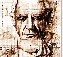 old book drawing famous people cal by Palluch Atelier