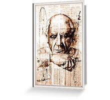 old book drawing famous people cal Greeting Card