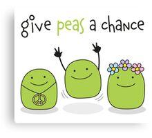 Give peas a chance Canvas Print