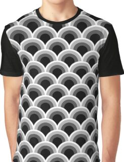 Black and white graphic retro design Pattern Graphic T-Shirt