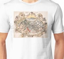 1513 World map Generale Ptholemei by Martin Waldseemüller Unisex T-Shirt