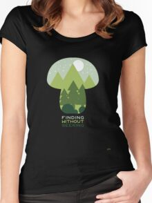 FINDING WITHOUT SEEKING Women's Fitted Scoop T-Shirt