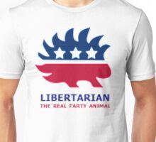 Libertarian The Real Party Animal Unisex T-Shirt