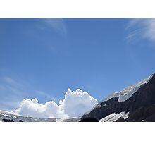 Clouds on Athabasca Glacier Photographic Print