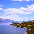 Lake Wakatipu & the Southern Alps by Alex Cassels