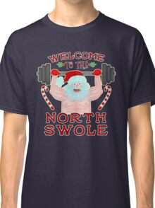Funny Christmas Santa Claus North Swole Weightlifter Classic T-Shirt