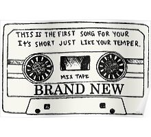 Brand New // Mix Tape Poster