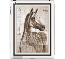 old book drawing famous people cal iPad Case/Skin