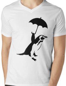Pengou Mens V-Neck T-Shirt