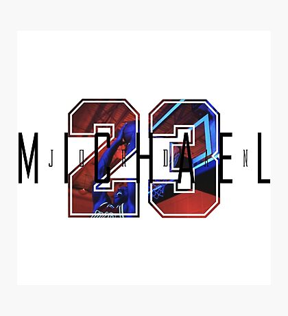 Michael Jordan 23 Photographic Print