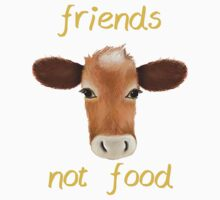 Friends not food cow One Piece - Short Sleeve