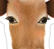 Friends not food cow Sticker
