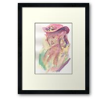 Watercolor Bust Framed Print
