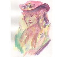 Watercolor Bust Photographic Print
