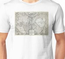 1532 World map Nova et integra universi orbis descriptio By Oronce Fine Unisex T-Shirt