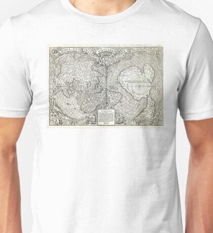 1532 World map Nova et integra universi orbis descriptio By Oronce Fine Unisex T-Shirt
