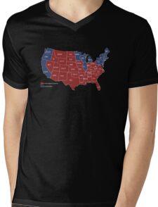 DUMBFUCKISTAN Map 2016 - Presidential Election Map Shirt Mens V-Neck T-Shirt