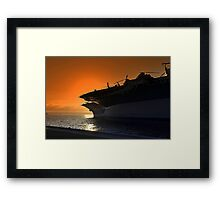 Midway Sunset Framed Print