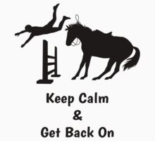 Keep Calm & Get Back On The Horse Black One Piece - Long Sleeve
