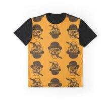 Seamless pattern from Skull with cigar.  Graphic T-Shirt