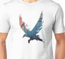 Ink Forest Crow Unisex T-Shirt