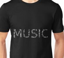 Music typography - inverted Unisex T-Shirt