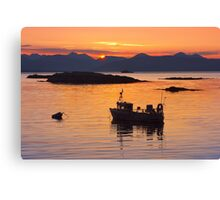 Isle of Skye. Sunset. North West Scotland. Canvas Print