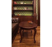 cigar in cozy smoking room Photographic Print