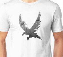 Ink Forest Crow (Black) Unisex T-Shirt