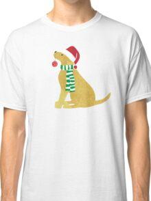 Christmas Yellow Lab Holiday Dog Classic T-Shirt