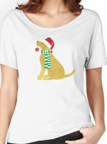 Christmas Yellow Lab Holiday Dog Women's Relaxed Fit T-Shirt