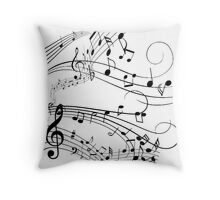 Musical Wind Throw Pillow