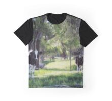 Cattle Among the Cottonwood Graphic T-Shirt