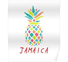 Tropical Pineapple Jamaica Poster