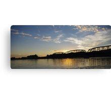 Old Milwaukee Bridge at Sunset Canvas Print