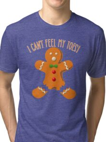 Funny Gingerbread Man Tri-blend T-Shirt