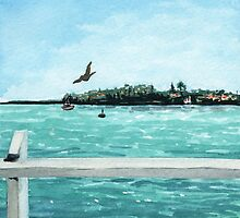 West Cliff Across the Water by Amy-Elyse Neer