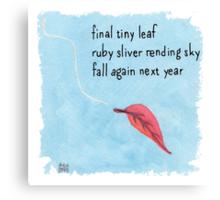 New Year Haiku 2014 Canvas Print