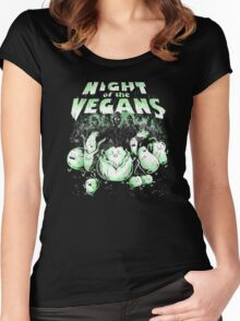 Night of the Vegans Women's Fitted Scoop T-Shirt