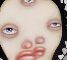 Two, three eyes Sticker
