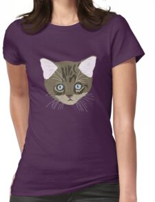 Tabby Kitten Cat Cute Womens Fitted T-Shirt