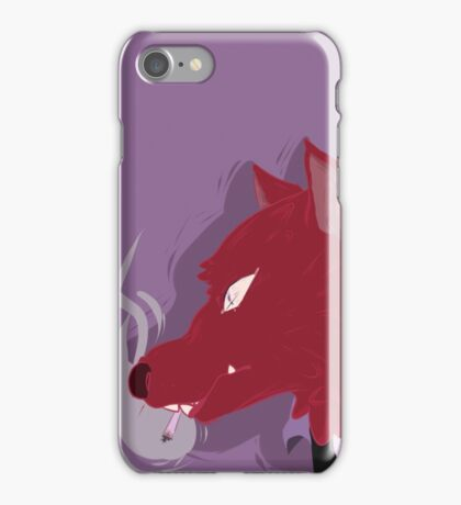 Canis Lupus (Red Vers.) iPhone Case/Skin