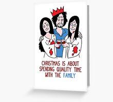 Killer Christmas Cards - Charles Manson Greeting Card