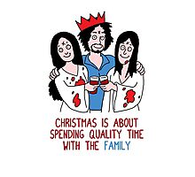 Killer Christmas Cards - Charles Manson Photographic Print