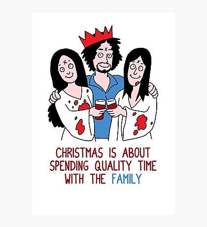 Killer Christmas Cards - Charles Manson Photographic Print