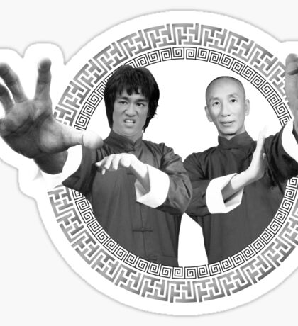 Bruce Lee & Ip Man - Grandmaster Duo Mono Sticker