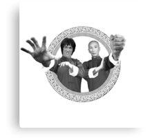 Bruce Lee & Ip Man - Grandmaster Duo Mono Canvas Print