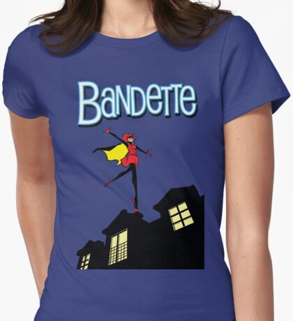 Bandette on the roof Womens Fitted T-Shirt