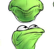Kermit The Frogs Many Faces Sticker