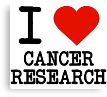 I Love Cancer Research Canvas Print